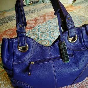 Tignanello cobalt pebble leather shopper